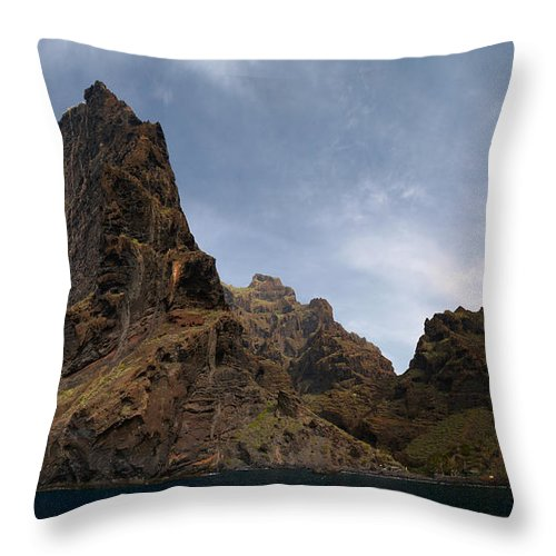 Valasretki Throw Pillow featuring the photograph Masca Valley Entrance Panorama by Jouko Lehto