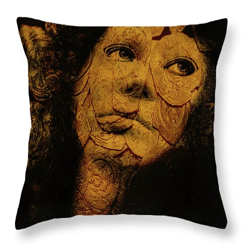 Portraits Throw Pillow featuring the photograph Mask 7 by John Anderson