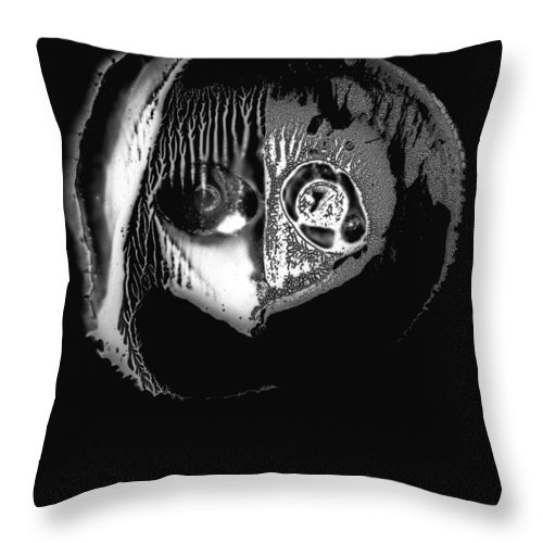 Abstract Throw Pillow featuring the painting Mask by Murray Bloom