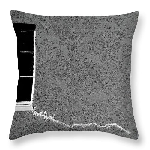 Cml Brown Throw Pillow featuring the photograph Masonic Window by CML Brown