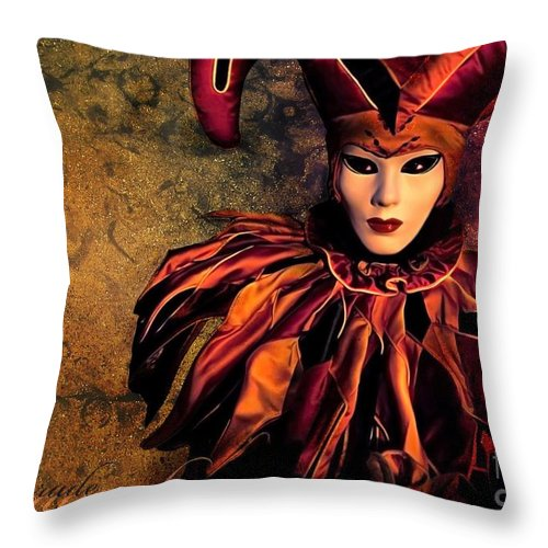Mask Throw Pillow featuring the photograph Masquerade by Jacky Gerritsen