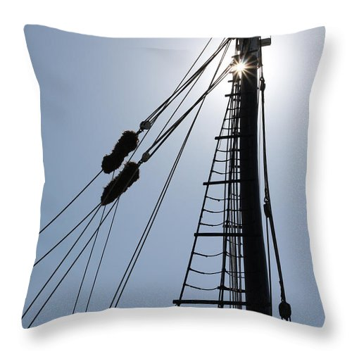 Mast Throw Pillow featuring the photograph Mast by Paul Tokarchuk