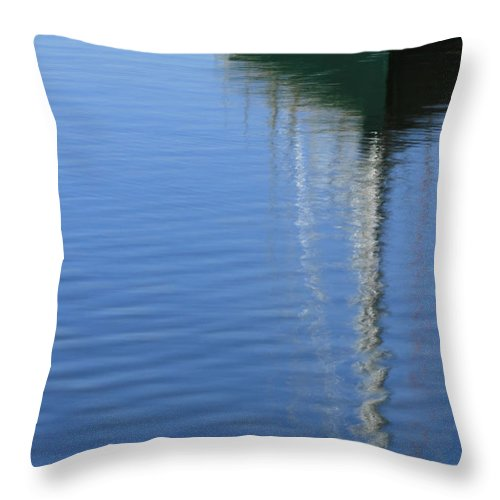 Sailboat Throw Pillow featuring the photograph Mast Reflections by Karol Livote