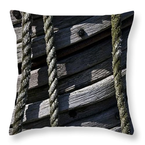 Mast Throw Pillow featuring the photograph Mast Rigging by Murray Bloom