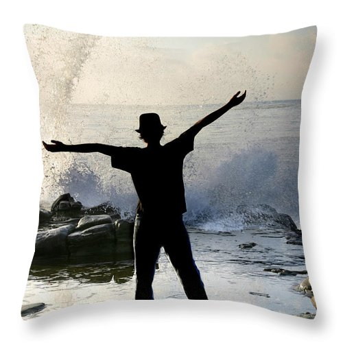 Ocean Throw Pillow featuring the photograph Master Of The Ocean by Anthony Jones