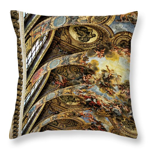 France Throw Pillow featuring the photograph Masterpiece Design Architecture Palace Versailles France by Chuck Kuhn