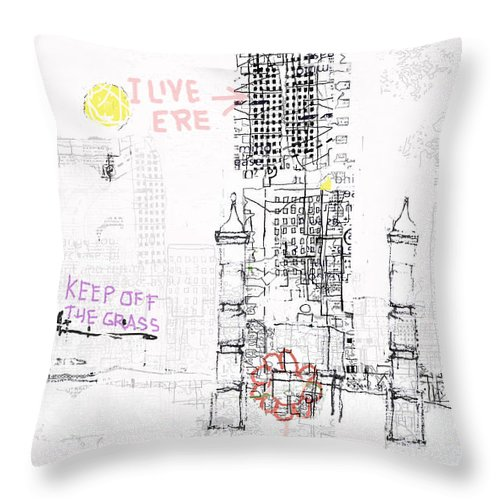 City Throw Pillow featuring the digital art Matera by Andy Mercer