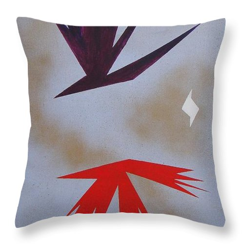 Birds Throw Pillow featuring the painting Mating Ritual by J R Seymour