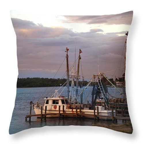 Sunset Throw Pillow featuring the photograph Matlacha Florida Sunset by Joseph G Holland