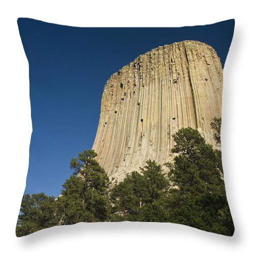 Chad Davis Throw Pillow featuring the photograph Mato Tipila by Chad Davis