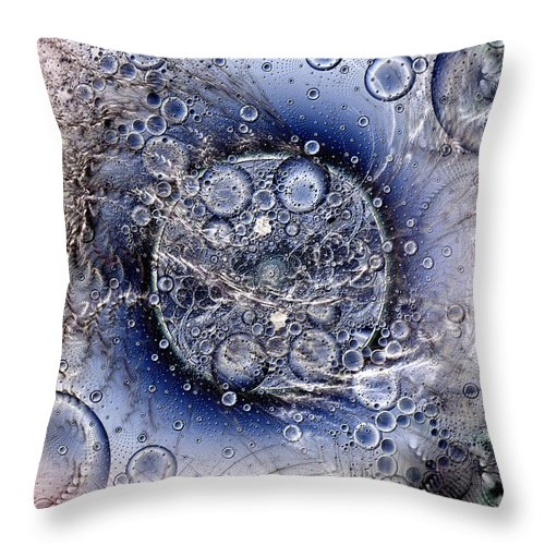 Abstract Throw Pillow featuring the digital art Matter From Another Perspective by Casey Kotas