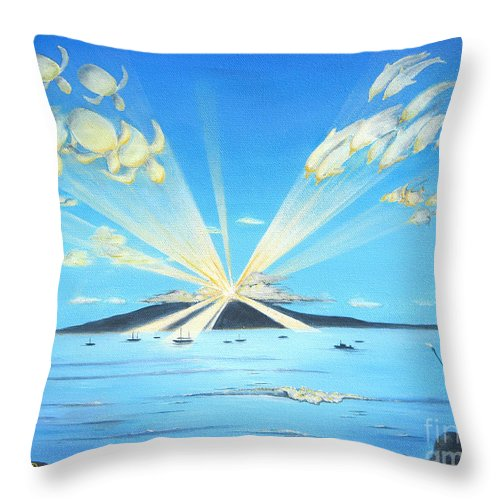 Maui Throw Pillow featuring the painting Maui Magic by Jerome Stumphauzer