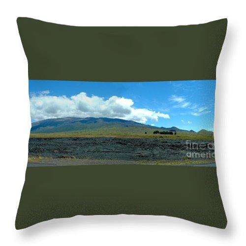 Landscape Throw Pillow featuring the photograph Mauna Loa Panorama by D Nigon
