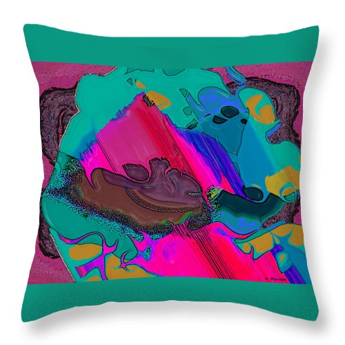 Ebsq Throw Pillow featuring the digital art Mauve Abstract by Dee Flouton