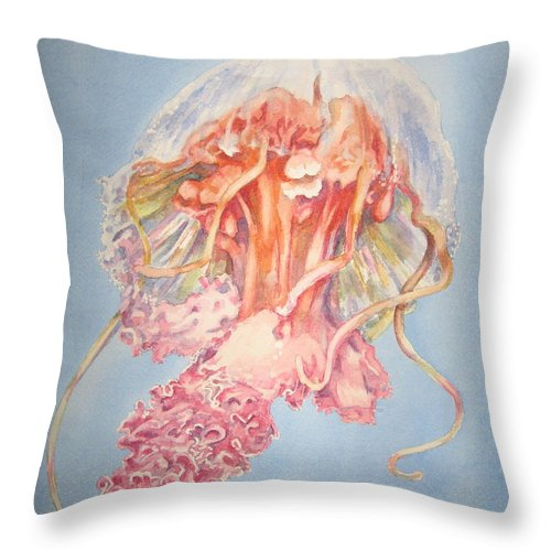 Marine Throw Pillow featuring the painting Mauve Stinger by Carol Mueller