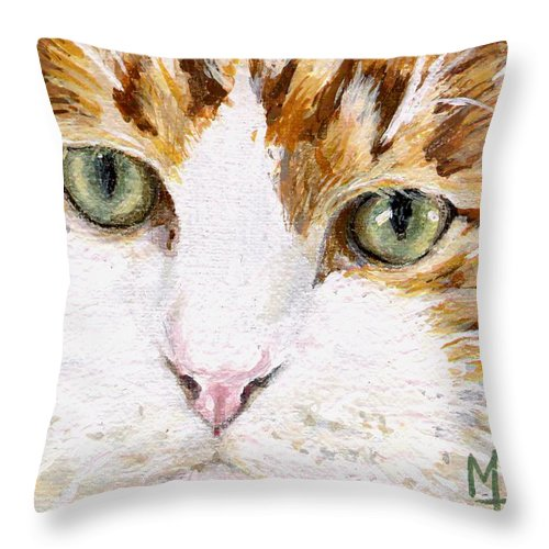 Charity Throw Pillow featuring the painting Max by Mary-Lee Sanders
