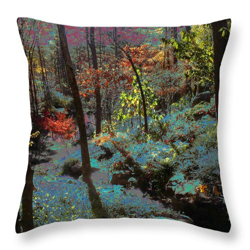 Maxfield Parrish Throw Pillow featuring the photograph Maxfield Parrish Moment by Anne Cameron Cutri