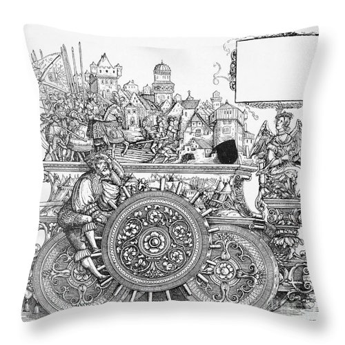 16th Century Throw Pillow featuring the drawing Maximilian I 1459-1519 by Granger