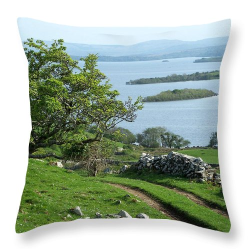 Ireland Throw Pillow featuring the photograph May The Road Rise To Meet You by Teresa Mucha