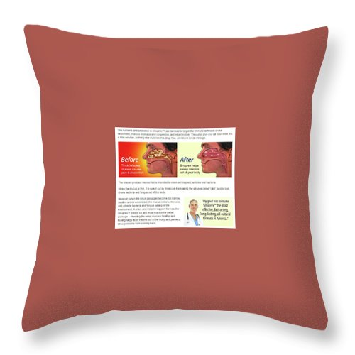 Sinuprex Throw Pillow featuring the relief Maybe Best Of All by Assam Rifless