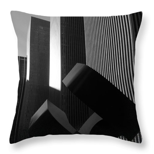 Architecture Throw Pillow featuring the photograph Mc Graw Hill Building by John Schneider