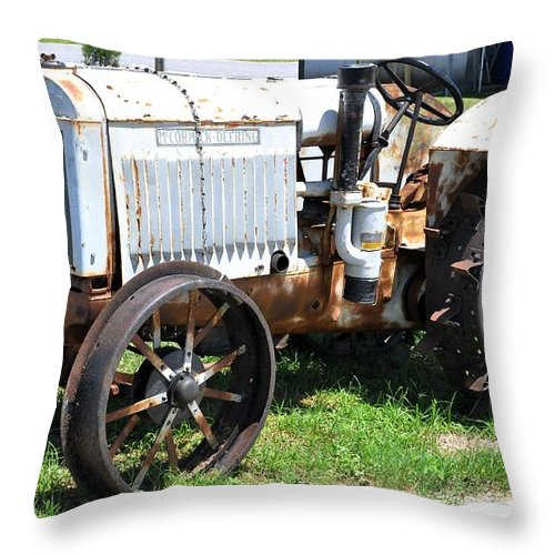 Ihc Throw Pillow featuring the photograph Mccormick-deering 10-20 Tractor by John Black