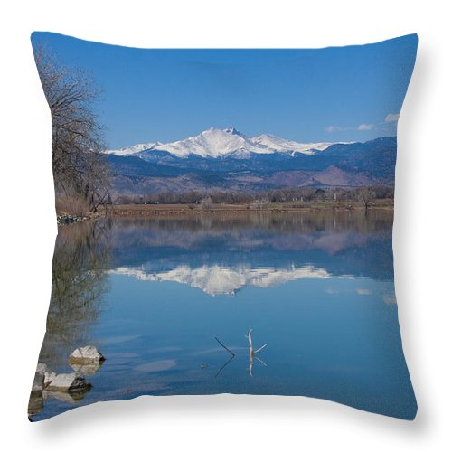Lake Throw Pillow featuring the photograph Mcintosh Lake Reflections by James BO Insogna