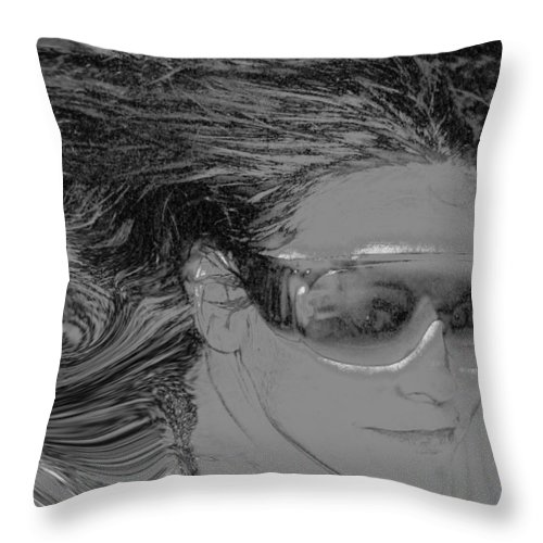 Me Throw Pillow featuring the photograph Me by Linda Sannuti