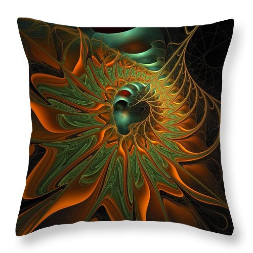 Digital Art Throw Pillow featuring the digital art Meandering by Amanda Moore