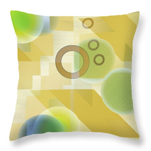 Digital Throw Pillow featuring the digital art Measurable Mingle by Ruth Palmer