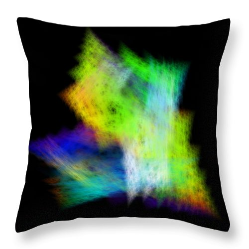 Abstract Throw Pillow featuring the digital art Medictates by Andrew Kotlinski