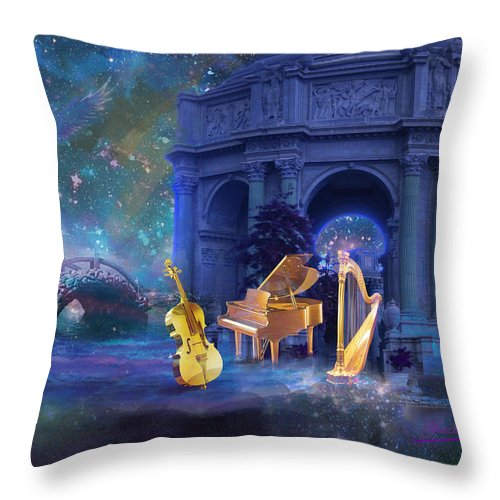 Fantasy Throw Pillow featuring the digital art Meditation 1 by Yuichi Tanabe