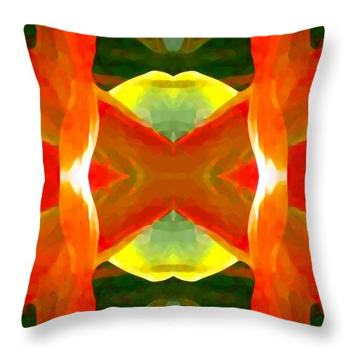 Abstract Throw Pillow featuring the painting Meditation by Amy Vangsgard