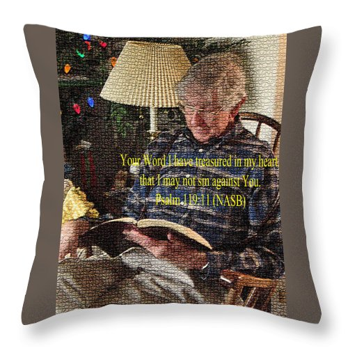 Meditation Throw Pillow featuring the photograph Meditation by Lori Kingston