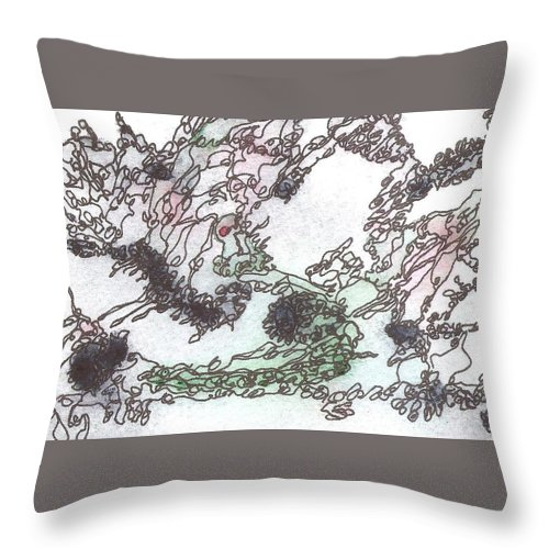 Postcard Throw Pillow featuring the painting Meditations And Love Letters #15128 by Ronda Stephens