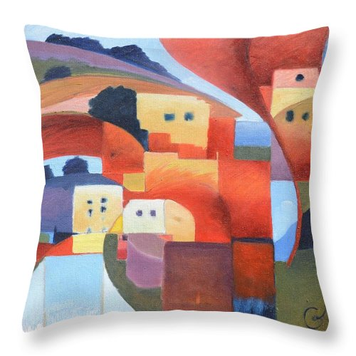 Sea Throw Pillow featuring the painting Mediterranean Feel by Gary Coleman