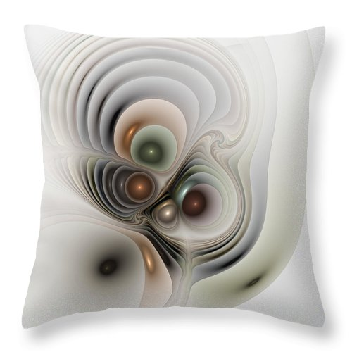 Abstract Throw Pillow featuring the digital art Medulla by Casey Kotas