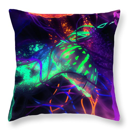 Abstract Throw Pillow featuring the photograph Medusarizing by Jorgo Photography - Wall Art Gallery
