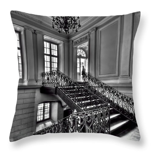 Stair Throw Pillow featuring the photograph Meet Me Half Way by Evelina Kremsdorf
