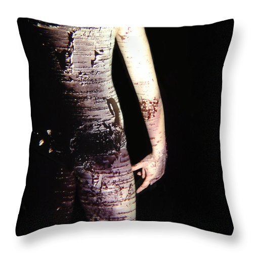 Nature Fusion Throw Pillow featuring the photograph Megan by Arla Patch