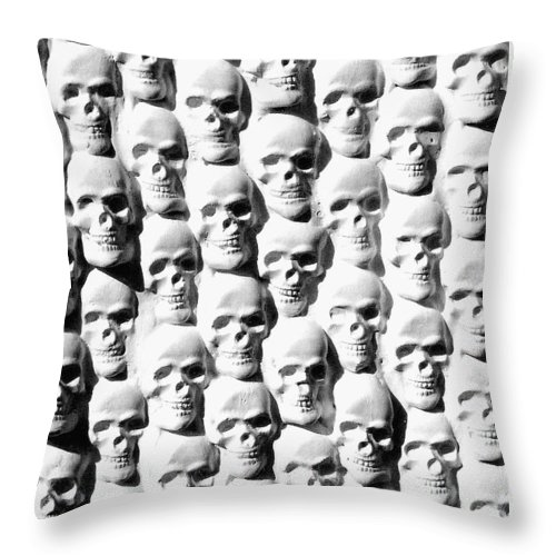 Figurative Throw Pillow featuring the sculpture Melancholic Journey 2 by Mark Cawood