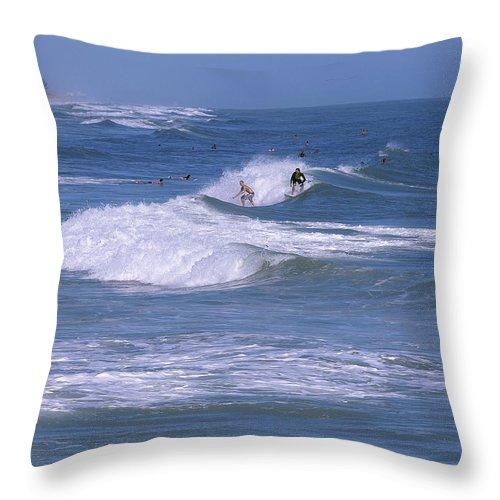 Florida Throw Pillow featuring the photograph Melbourne Beach Florida Usa by Allan Hughes