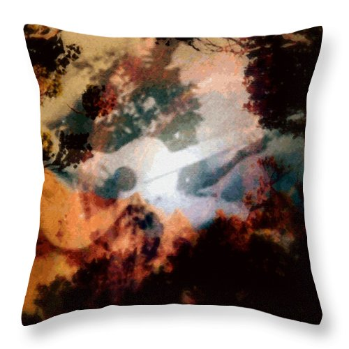 Tropical Interior Design Throw Pillow featuring the photograph Mele Ho Oipoipo by Kenneth Grzesik