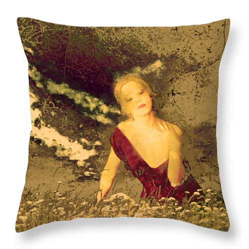 Sunset Throw Pillow featuring the photograph Mellissa At Sunset by Jeff Burgess