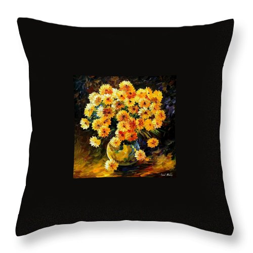 Still Life Throw Pillow featuring the painting Melody Of Beauty by Leonid Afremov