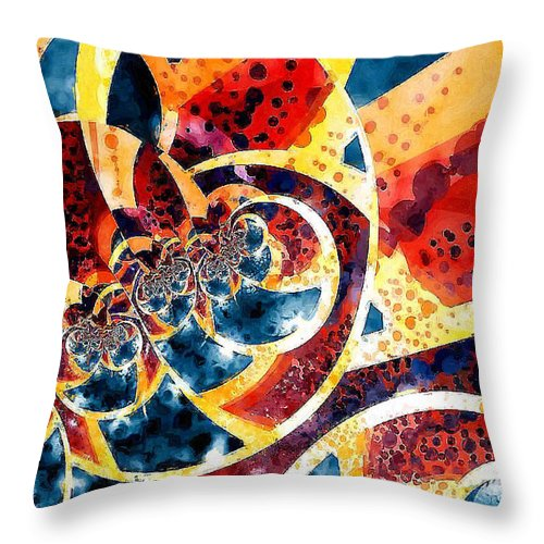 Fractal Throw Pillow featuring the digital art Melon And Blueberry Melange by Charmaine Zoe