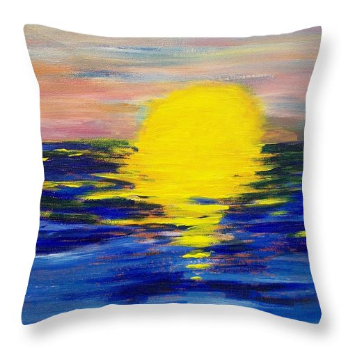 Sun Throw Pillow featuring the painting Melt by Laurette Escobar