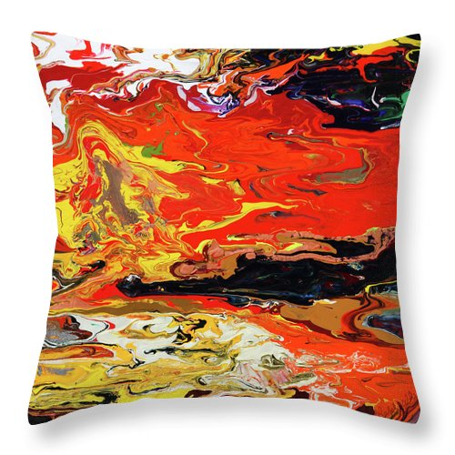 Fusionart Throw Pillow featuring the painting Melt by Ralph White