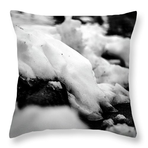 Photograph Throw Pillow featuring the photograph Melting Drift by Nicole Parks