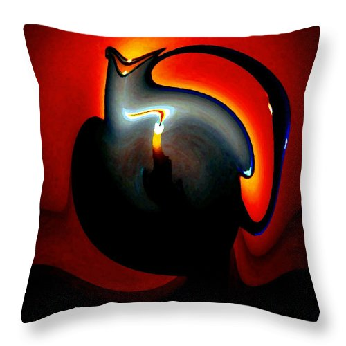 Dramatic Throw Pillow featuring the digital art Melting Point by Will Borden